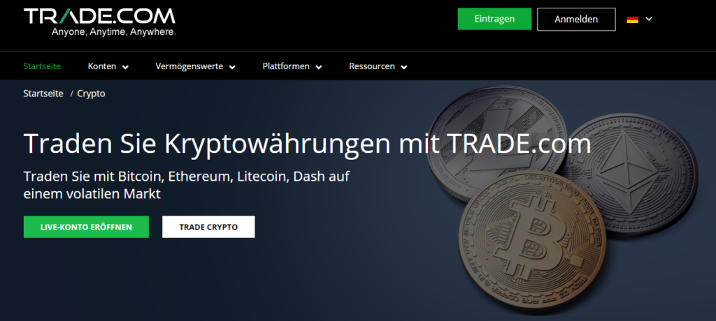 Trade.com Kryptowährungen