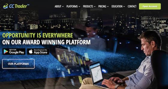 ccTrader Webseite