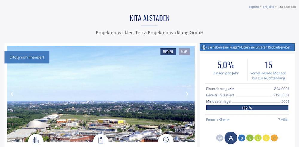 Die Kita Alstaden ist eines der Crowdinvesting-Projekte von Exporo