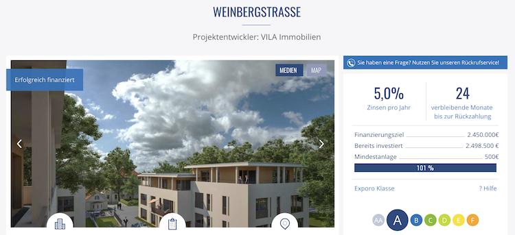 Exporo Projektbeschreibung Weinbergstrasse