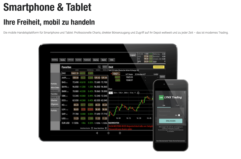 LYNX Broker Trading App