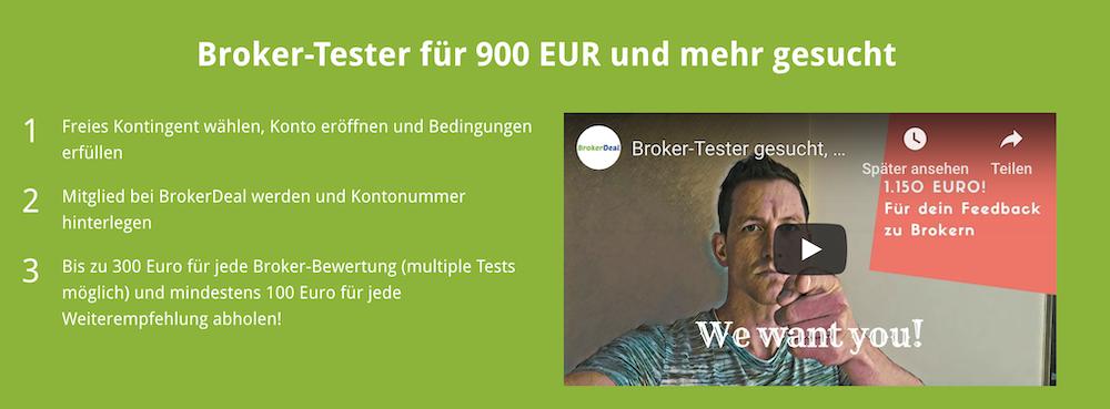 BrokerDeal Aktion