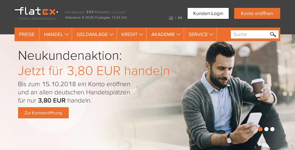 flatex Webseite Konditionen