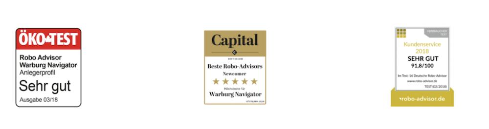 Warburg Navigator Auszeichnungen