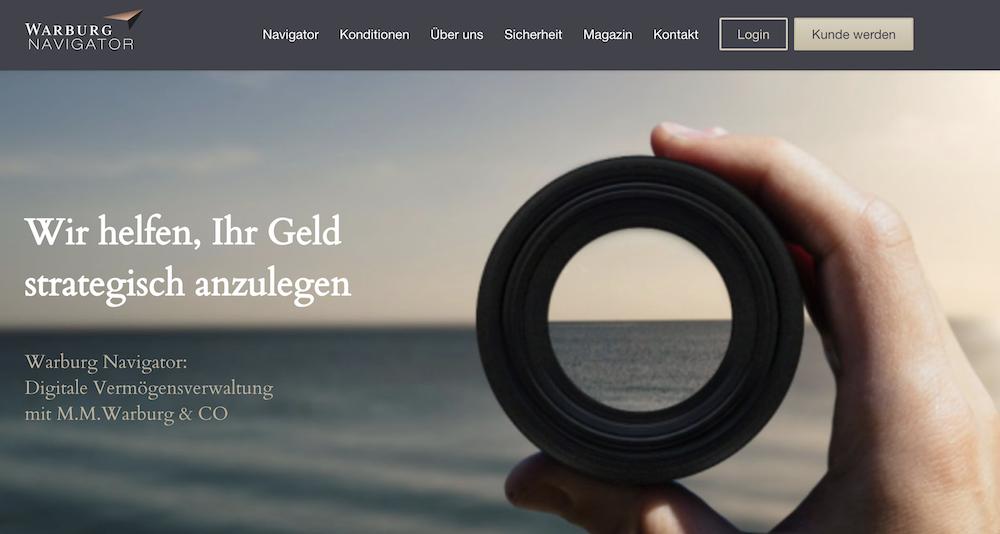 Warburg Navigator Webauftritt