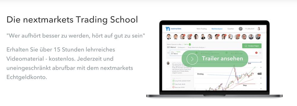 nextmarkets Trading School Bildung