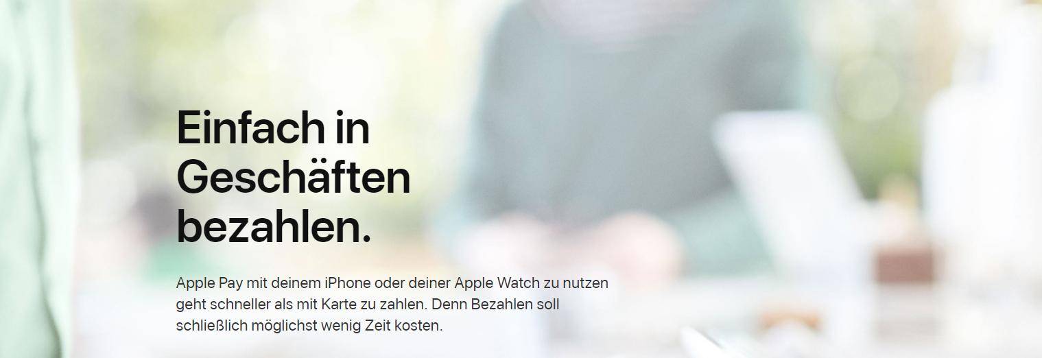 Mit Apple Pay können Sie einfach in Geschäften bezahlen