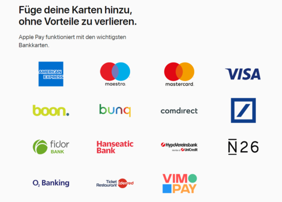 Apple Pay mit der Visa-Card