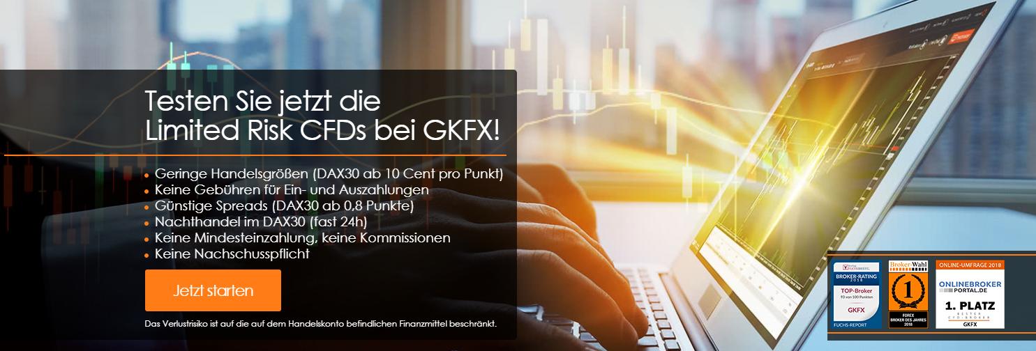 Jetzt Limited Risk CFDs GKFX