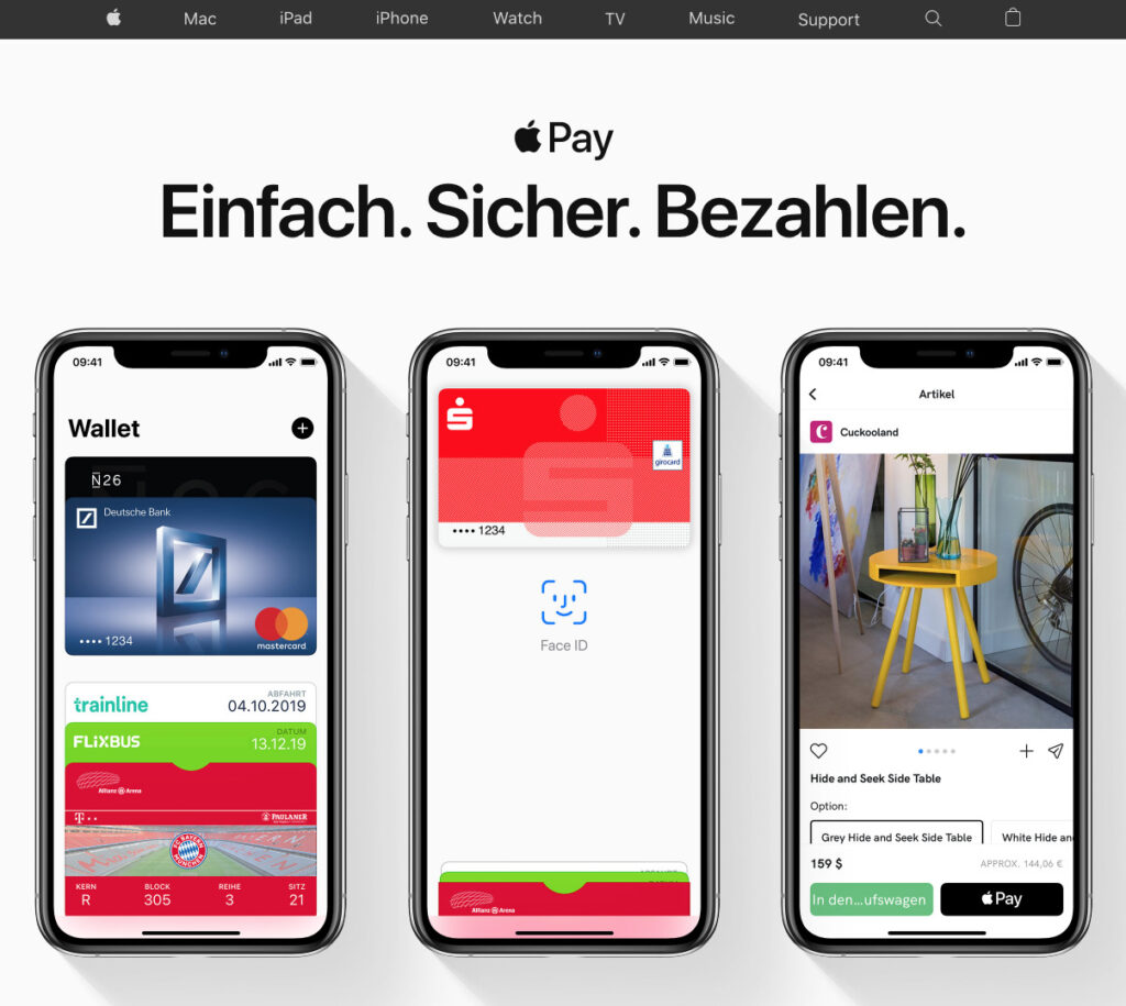 Apple Pay auf iPhone